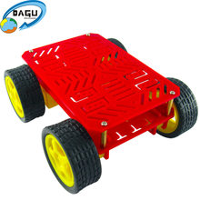 4WD Roboter Chassis Kit Smart Auto Arduino(China)