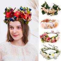 Frigg, искусственный цветок, повязка на голову, свадебное украшение для свадеб, Деревенское свадебное украшение невесты, свадебные аксессуары