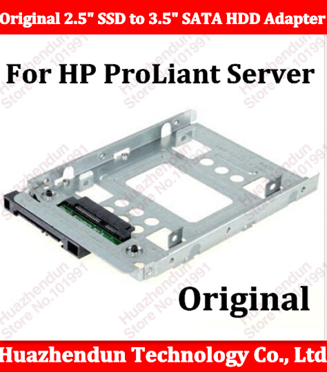 2pcs Original New 2.5 SSD to 3.5 SATA Hard Disk Drive HDD Caddy Adapter for ProLiant Server G7 G8 Free shipping muse