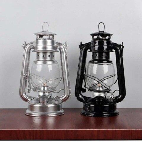 retro lampada de querosene classico 4 cores lanternas de querosene pavio luzes portateis adorno