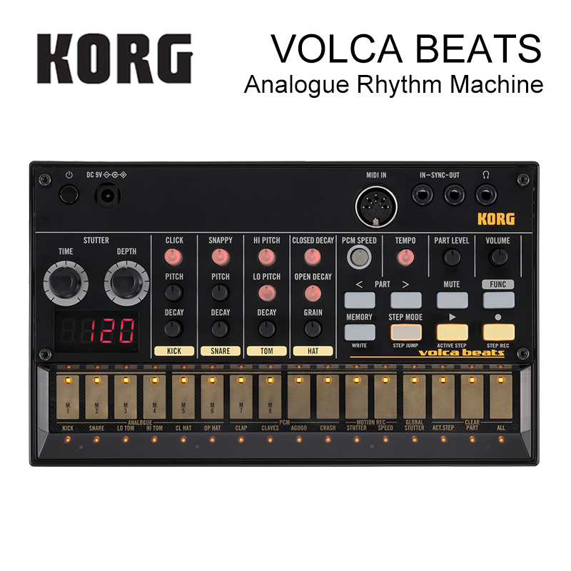 Korg Volca Beats Analog Rhythm Machine Electribe-Style Sequencer Peerless Beats Generated By Solid Analog Drum Sounds