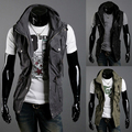 2016 Autumn New Fashion Men Casual Vests Classic Windproof Warm Waistcoat Brand Outwear H7174