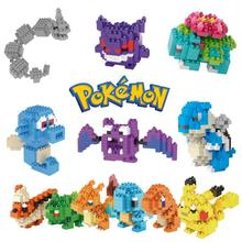 Pikachu Go Toys Action Figures Model Pikachu Bulbasaur Squirtle Mewtwochild Eevee Child gift Anime Building Blocks Pikachu