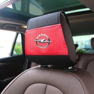 Image 5 - Funda para reposacabezas de coche, con bolsillo para teléfono, compatible con Opel Astra H G J, Insignia Mokka Zafira Corsa Vectra C D Antara