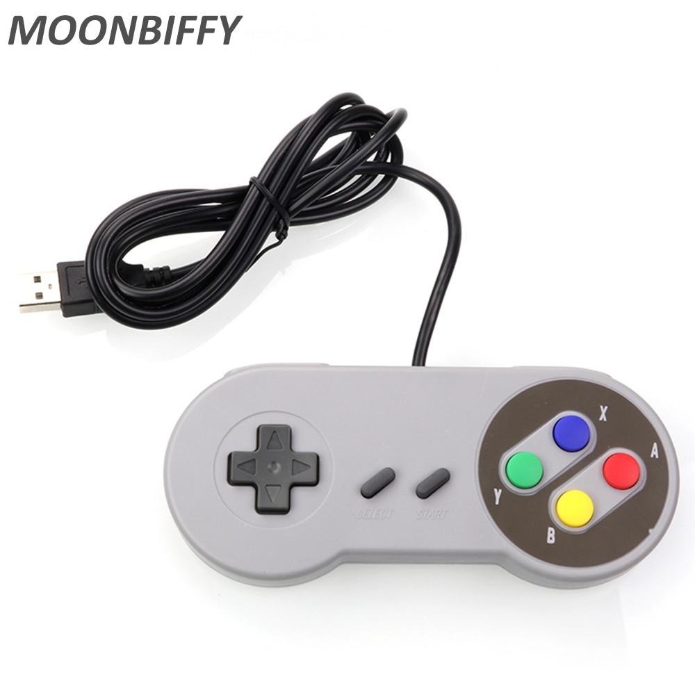 USB Controller Gaming Joystick Gamepad Controller for Nintendo SNES Game pad for Windows PC For MAC Computer Control Joystick(China)