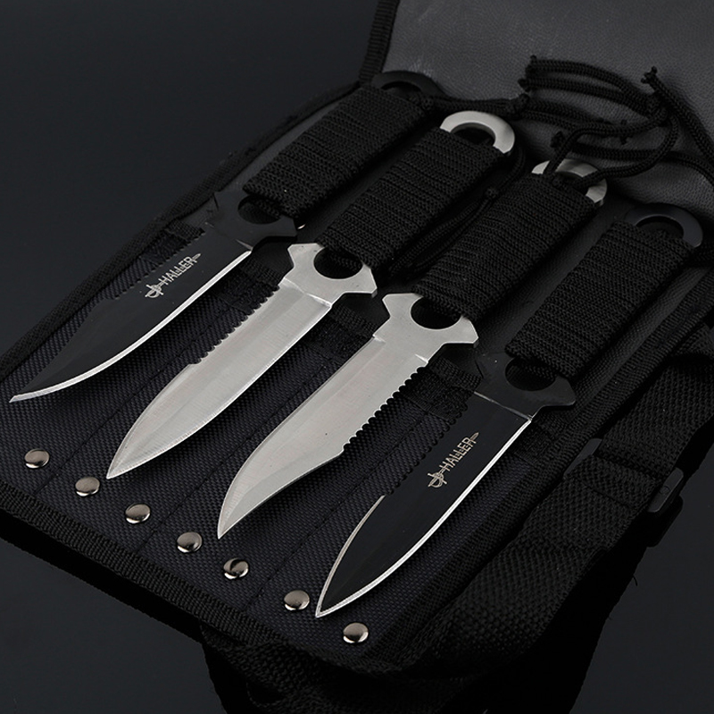 4-piece set camping equipment outdoor sports self-defense knife tactical tools camping hunting tools 2018 wholesale 9 in 1 portable durable card knife tactical edc tool outdoor sports camping survival self defense equipment