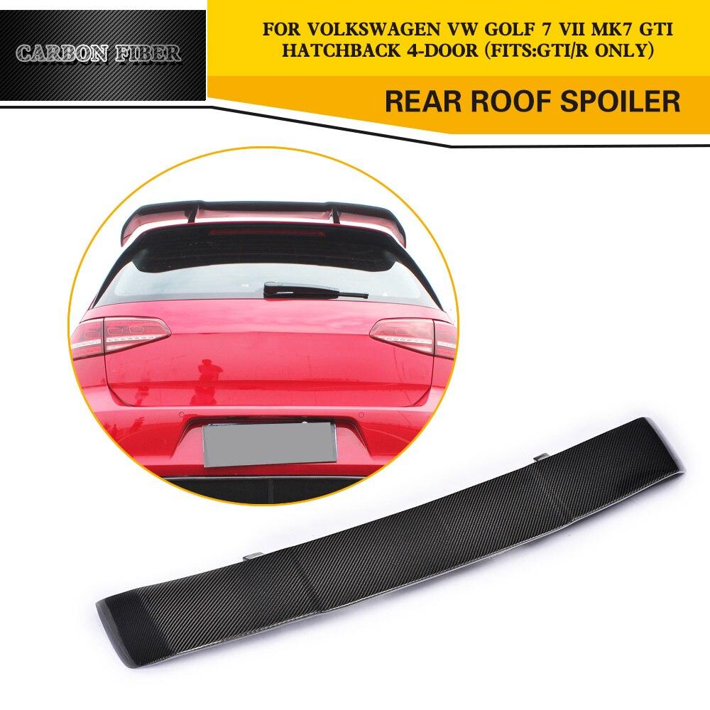 carbon fiber car rear roof spoiler wings for volkswagen vw. Black Bedroom Furniture Sets. Home Design Ideas