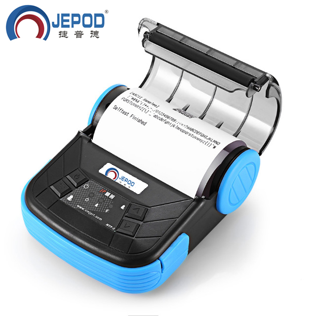 JP-MTP3 JEPOD 80mm Mini bluetooth Themal Printer Portable Wireless Thermal Receipt Printer Suitable For Android iOS Window goojprt mtp 3 80mm portable eu plug bluetooth 2 0 thermal printer exquisite lightweight design support android pos