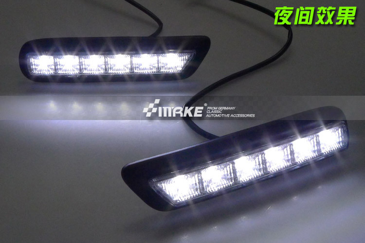 Free shipping !! LED DRL led daytime running light for MITSUBISHI OUTLANDER SPORT RVR ASX 2010 2012 for Mitsubishi ASX,2pcs