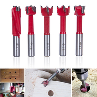 Hakkin 5Pcs Sharp Hinge Boring Drill Bit Set Milling Router Bit For Wood Hole Cutter Industrial