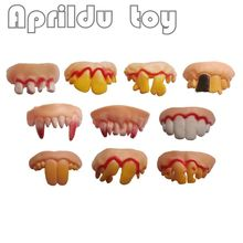 100pcs Vampire Denture Teeth Halloween Practice Bancuri Interesante Prank Horror Fun Shocker Noutăți Gadgets Funny Denture Teeth