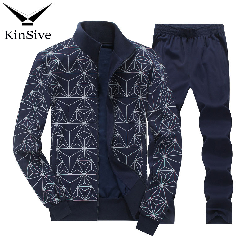 2018 New Autumn Tracksuits Men Set Fashion Jacket + Pants Suit Autumn Sweatshirt Sportswear Two Piece Set Male Hoodie Sweat Suit