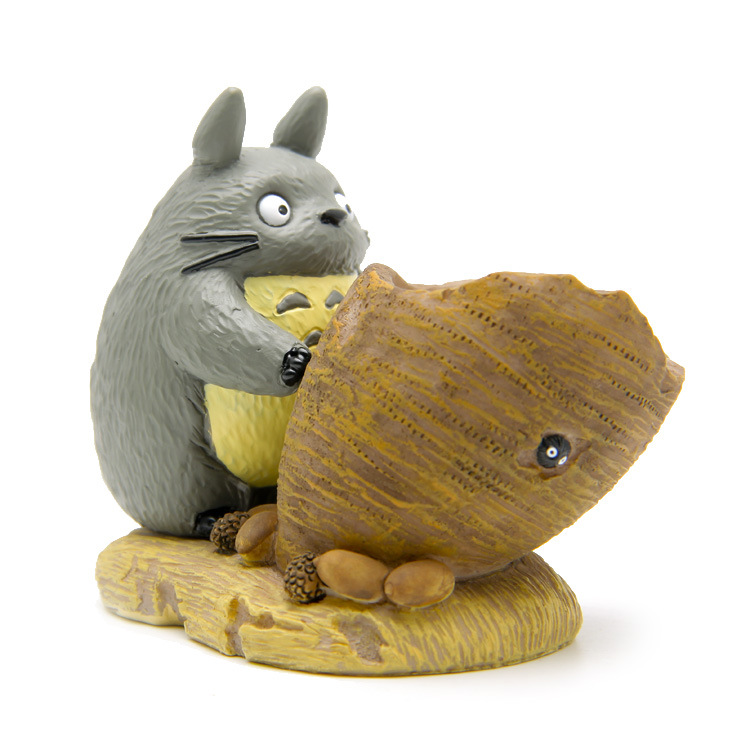 Hot Cartoon Anime 8CM My Neighbor Totoro With Flower Pot Action Figure Models Doll Kid Toys Gift Brinquedos AFD0279 loz my neighbor totoro toy umbrella totoro model action figure diamond building blocks original box 14 gift 9509