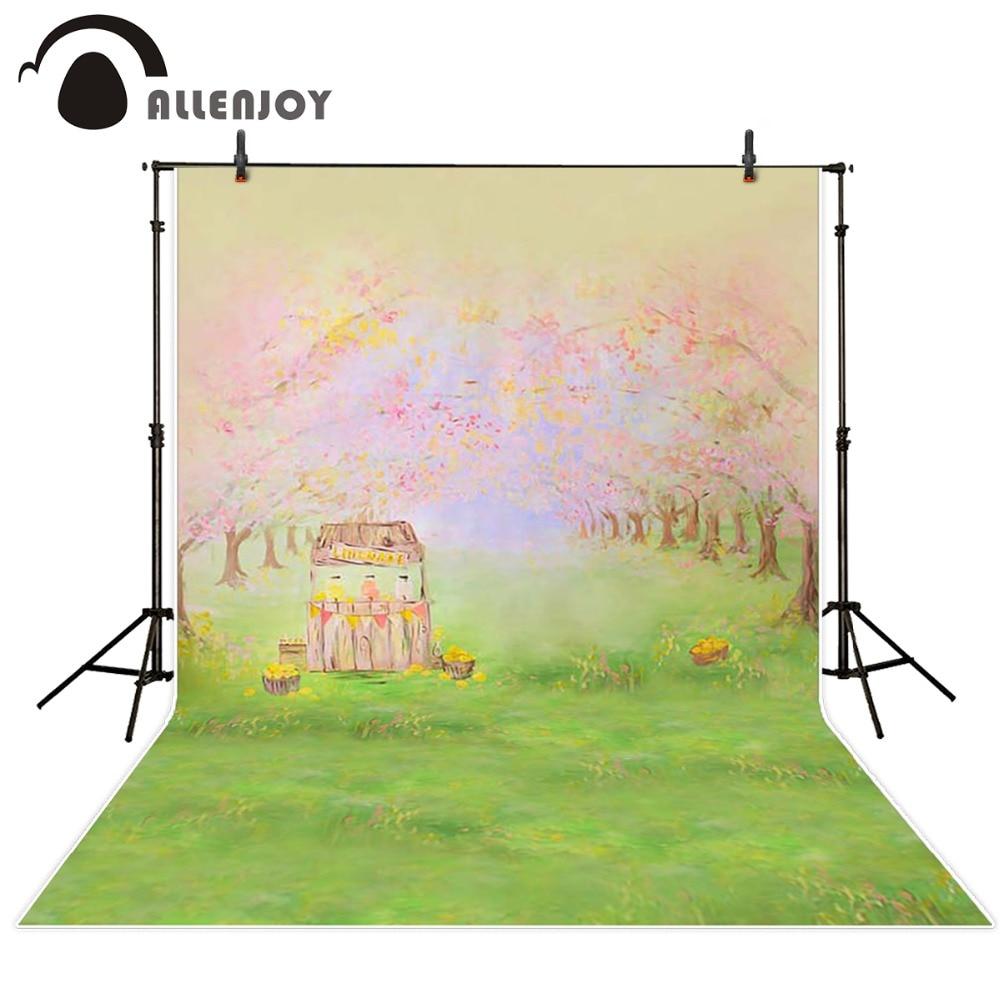 Allenjoy Photography background Forest Lawn Garden bokeh backdrops Rural kids girl spring fabric background кресло коляска электрическая детская vermeiren forest kids