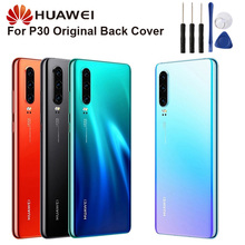 Huawei Original Back Battery Glass Cover Door Housing For P30 6.1 Rear Case