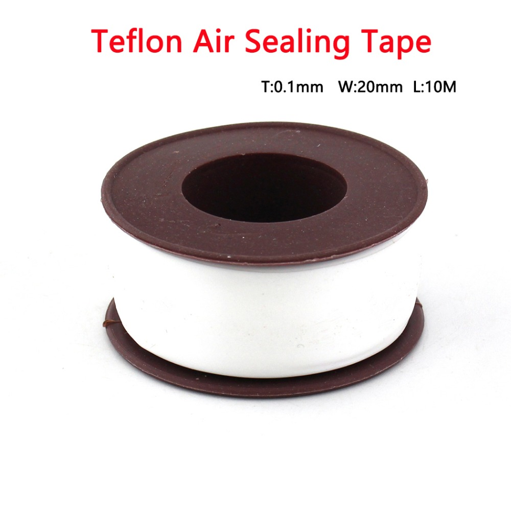 PCP Paintball Durable Airforce Teflon Air Sealing Tape Replacement Kit Ultra High Density Raw Tape 10M 0.1mm Thickness 20mm Wide