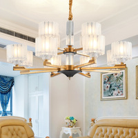 Туда светодиодный люстра китайский Стиль Спальня лампа простой европейский ресторан E14 110 V 220 V