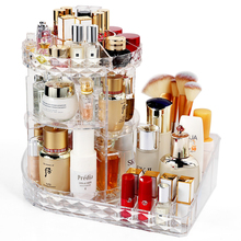 New Arrival Rotatable Multi layer Clear Makeup Lipstick Cosmetic Storage Display Box Acrylic Case Stand Rack  C5012