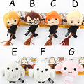 Free Shipping Hot Cartoon Harry Potter Q Plush Doll Toy for Children 12cm Anime Harry Potter Plush Pendant Kids Birthday Gifts