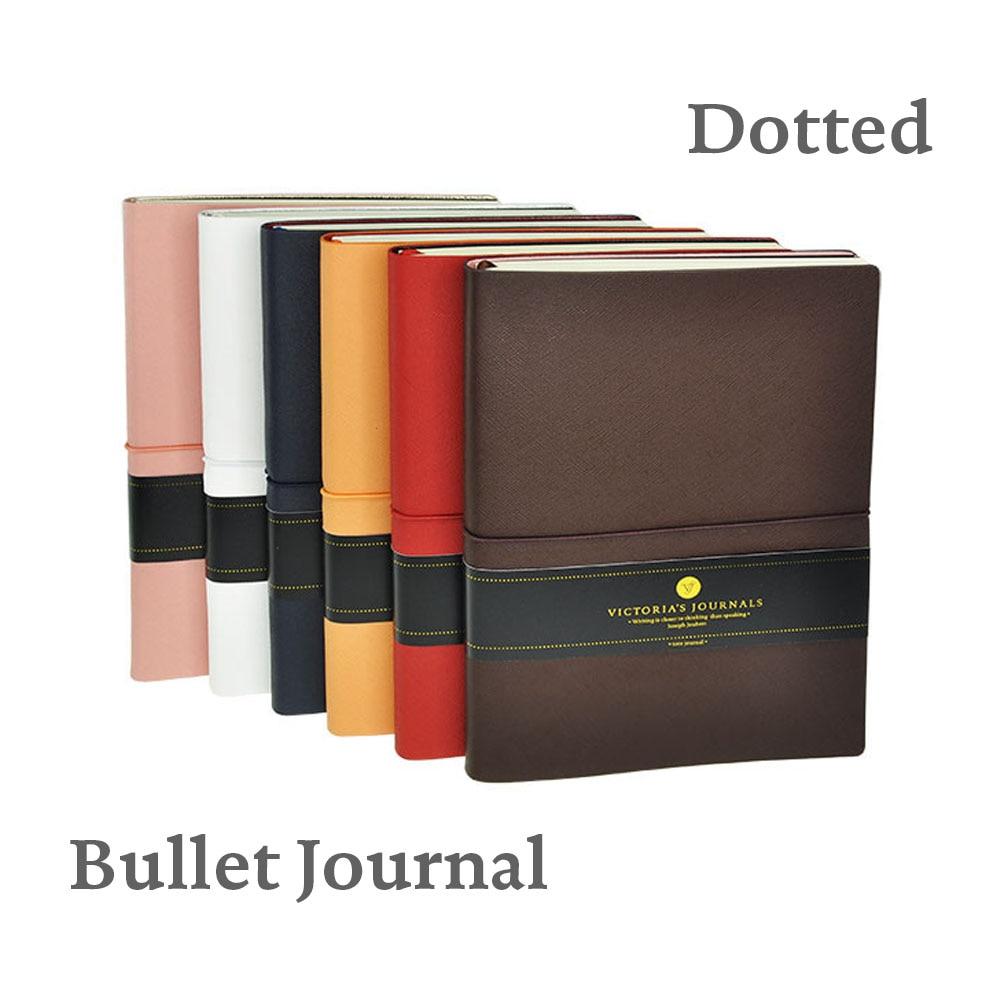 Smyth Bullet Journal Funda de cuero flexible con elástico diario - Blocs de notas y cuadernos
