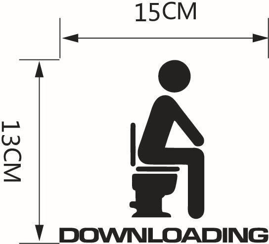 1 шт. загрузка Post туалет, ванная комната, Туалет украшает наклейки украшения дома