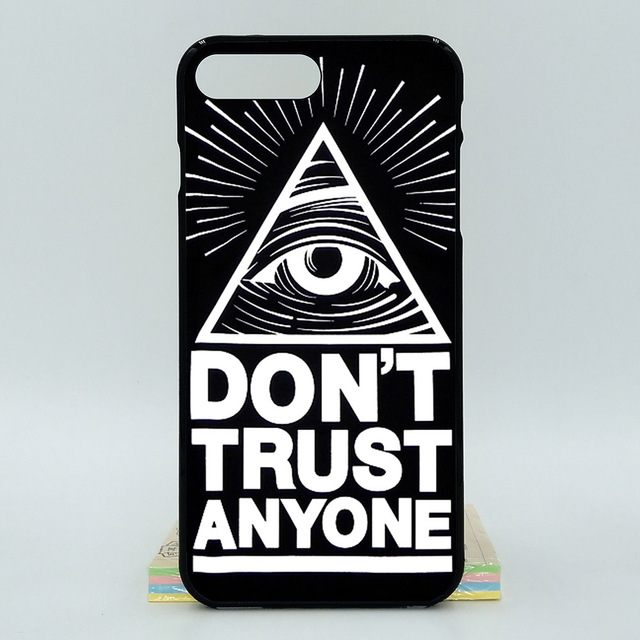 For Apple Iphone 8 Plus Cool Quotes Trust No One 2d Paiting Back