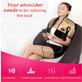 Household Remote Far Infrared Back,Shoulder,Neck and Body Massage Heating Relax Hot Compress Beat Heated Shiatsu Massager