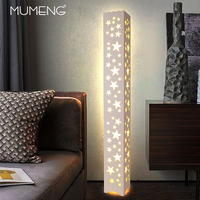 Modern minimalist star pattern led floor lamp 165 240V 18W decorative lights for bedroom/bedside/living room/study room