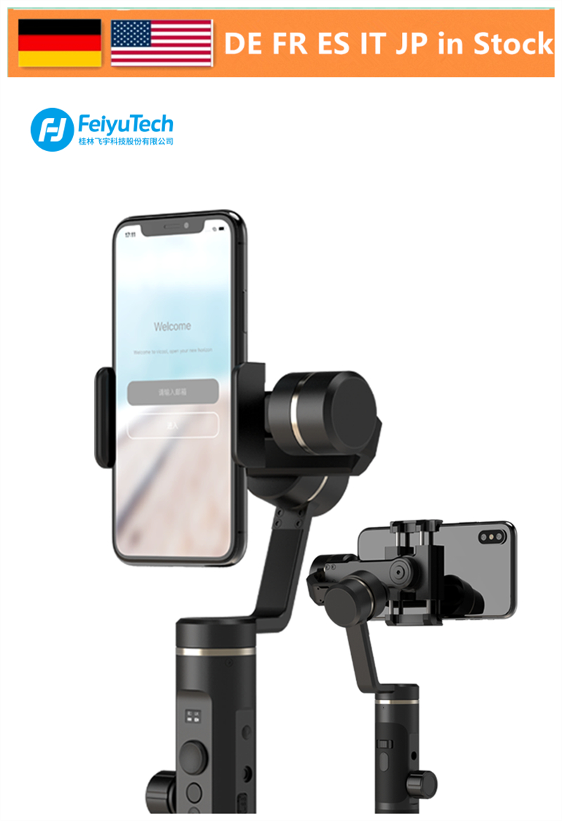 FeiyuTech Feiyu SPG 2 3-Axis Handheld Gimbal Stabilizer Splash-proof Design for Smartphone iphone Xs X 8 7 Galaxy S9+ Gopro 7 6 feiyutech feiyu spg gimbal 3 axis splash proof handheld gimbal stabilizer for iphone x 8 7 6 plus smartphone gopro action camera