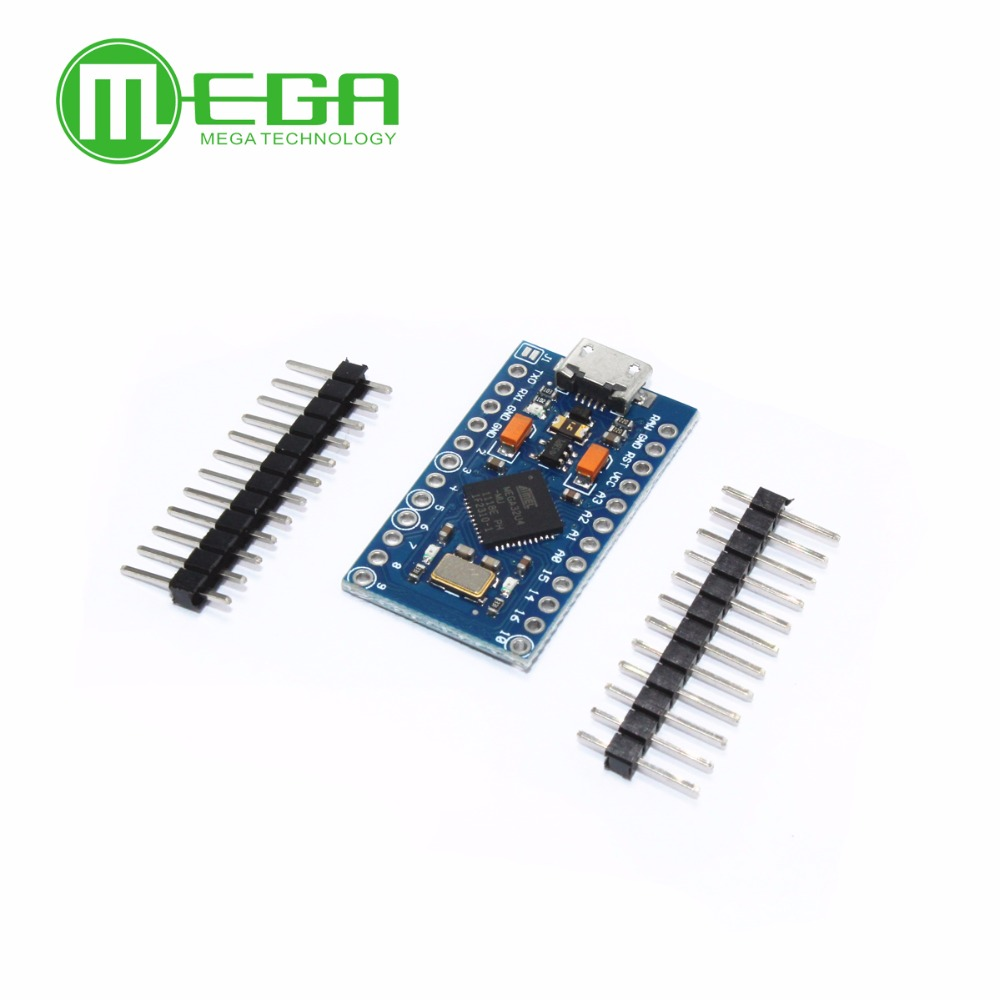 5pcs Pro Micro ATmega32U4 5V/16MHz Module with 2 row pin header MINI USB MICRO USB-in Integrated Circuits from Electronic Components & Supplies