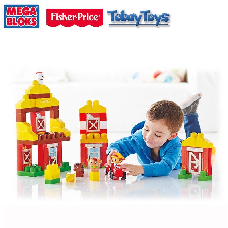 2017 nouveau véritable marque Fisher Price Mega Bloks Ferme Amis blocs De construction jouet bébé drôle jouet Les Amis De la Ferme DPJ57