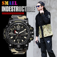 New 2018 SMAEL Sport Digital Watch Outdoor Desert Camouflage Military LED Display Wrist Watches For Men Clock Relogio Masculin