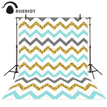 Allenjoy photo background Golden Blue Gray Chevron dots Child Photography Camera photography background for photographic studio