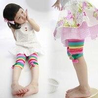 2017 الصيف ارتداء نمط الكورية الجديدة الفراولة rainbow فتاة الأطفال ملابس الطفل الأطفال سبعة الجزء ضرب underpant رقيقة