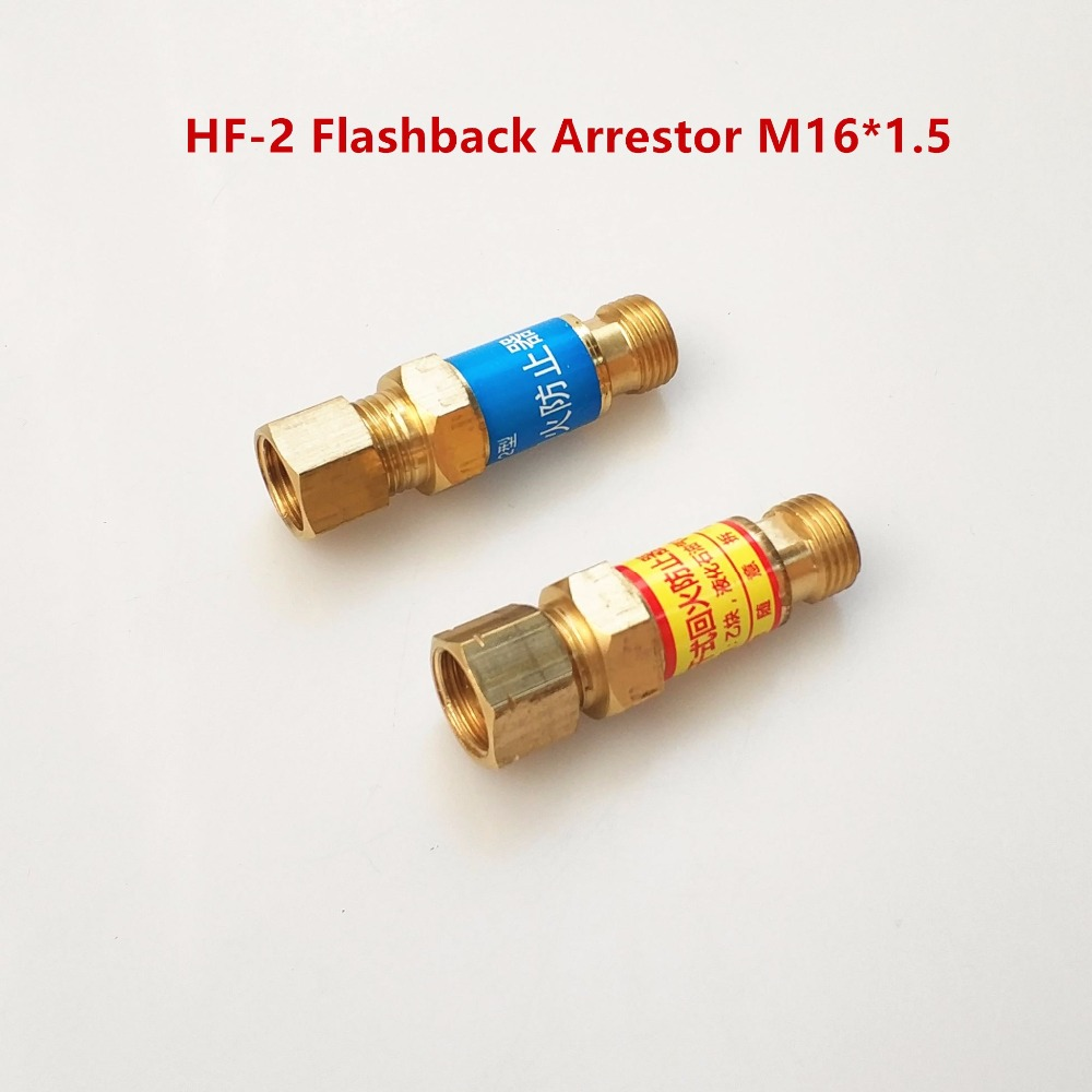 1 Pair Flashback Arrestor Check Valve Flame Buster M16*1.5 Type HF-2 For Pressure Regulator Mount Gas Welding Cutting