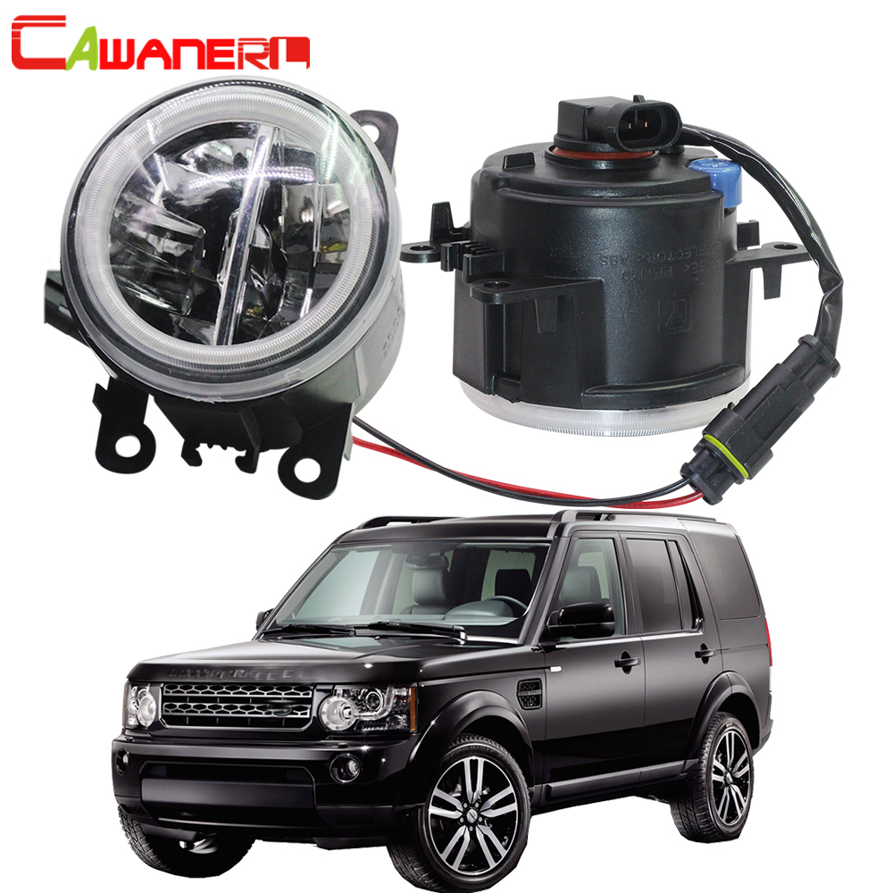 Cawanerl For Land Rover Discovery 4 LR4 SUV (LA) Closed Off Road Vehicle 2010 2013 Car LED Bulb Fog Light + Angel Eye DRL 12V