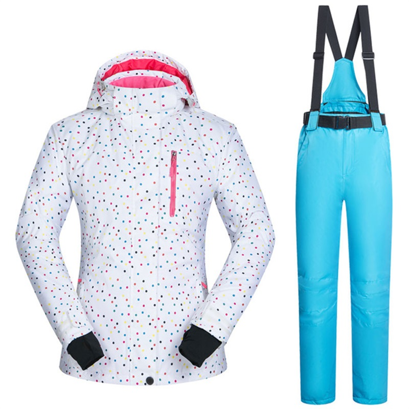 Winter Women Ski Suit Windproof Warm Female Snow Jacket Pants Set Waterproof Skiing Suit Women s