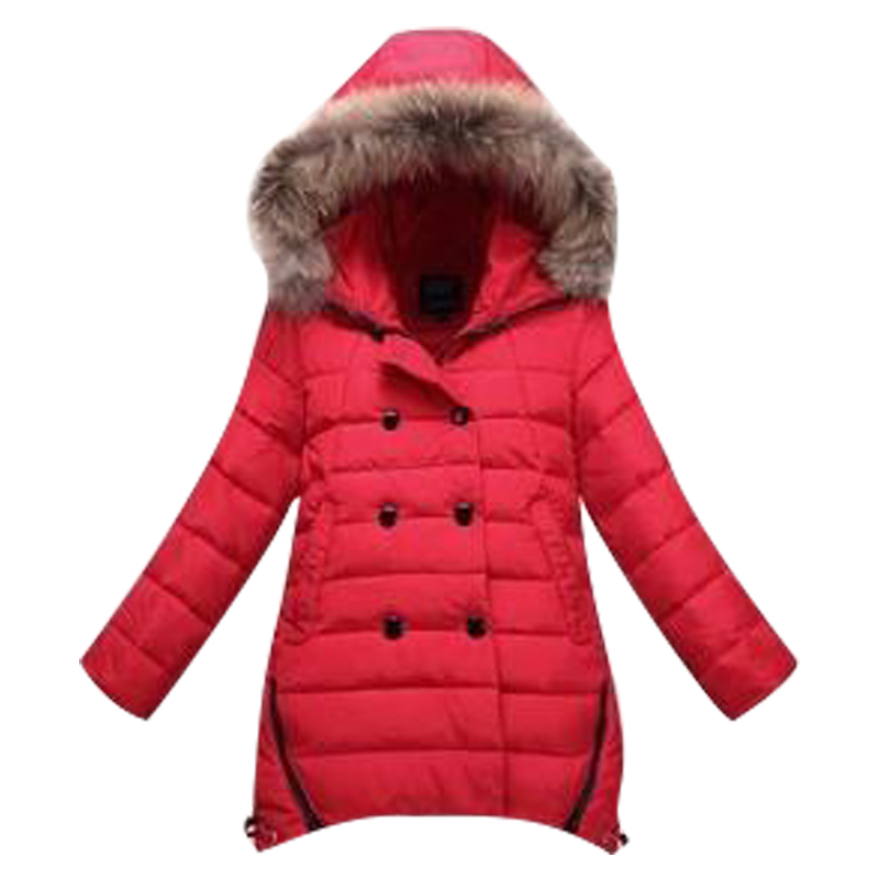 2017 children's clothing children down jacket Girls long section of large baby girls thick winter coat genuine