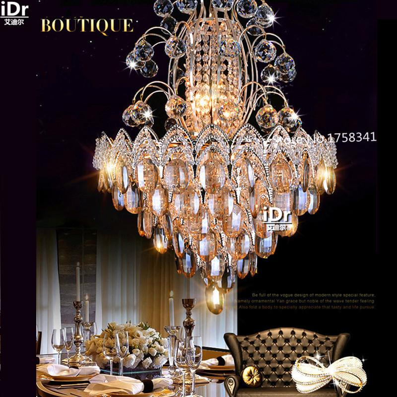 Neue Luxus Wohnzimmer Atmosphre Gold Kronleuchter Kristall Lichter Schlafzimmer Led Lampen Roundr Lampe Halle