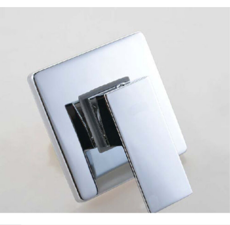 wholesale and retail modern chrome brass shower valve square single handle shower faucet control valve mixer valve