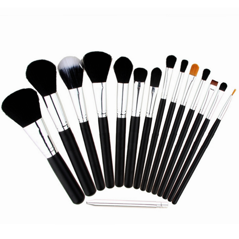 2016 Professional 15 pcs Makeup Brush Set tools Make-up Toiletry Make Up Brush Set Case Cosmetic brush free shipping S480 тушь make up factory make up factory ma120lwhdr04