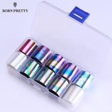 1 коробка голографические лак для Фольга комплект 2.5*100 см прозрачный AB Цвет передачи Стикеры Маникюр Дизайн ногтей наклейки