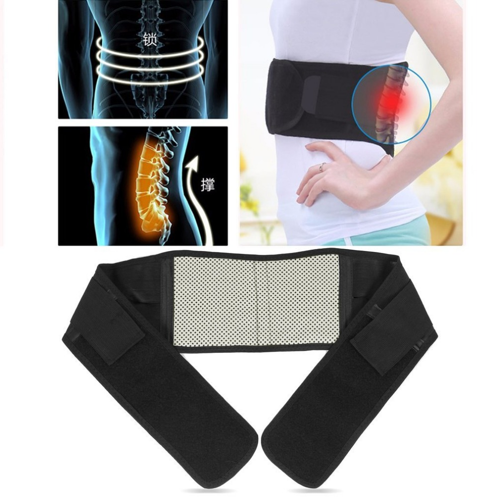 Self-heating Therapy Waist Belt Lumbar Support Pain Massager Infrared Magnetic Back Brace Support Adjustable Posture Belt S/M/L relieve pain relax massager heat belt infrared therapy heating belt healthy waist support acupuncture digital stimulator device