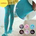 V-TREE 2016 roupa do bebê crianças collants para meninas meia-calça de algodão infantil flor crianças meia-calça meias quentes