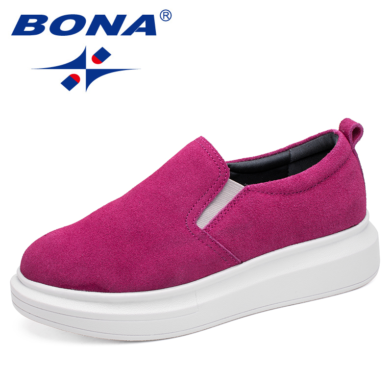 BONA New Fashion Style Women Flats Lace Up Female Casual Shoes Increasing Height Women Loafers Shoes Comfortable Free ShippingBONA New Fashion Style Women Flats Lace Up Female Casual Shoes Increasing Height Women Loafers Shoes Comfortable Free Shipping