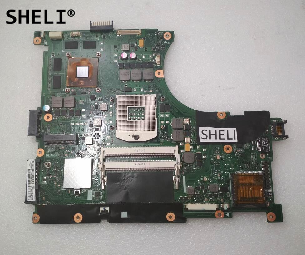 SHELI For ASUS N56VJ Motherboard N56VM Rev 2.3 with GT635M 2GB 60NB0030-MB1 n56vm rev 2 3 laptop motherboard suitable for asus n56vm n56vj n56vz gt630m hm76 system motherboard original new