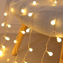 Lights Battery Balls Garland-Decoration Fairy-String LED USB Christmas Cherry Wedding