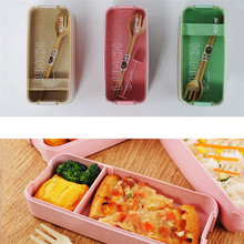 цена на New Office Lunch Boxes Containers Food Microwave Bento Box Kids Picnic Food Containers Portable Food Storage Box Lunch Box