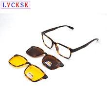 цены 2 in 1 Unisex Myopia Reading Glasses Frame for Women Men Polarized Night Vision Magnet Clip On Sunglasses Driving Eyeglasses A3