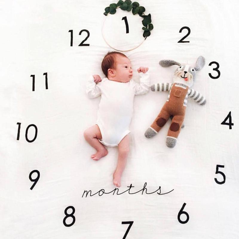 Novelty baby blanket Newborn infant baby photograp props Personalized Cotton Bedding Cover baby playing mat Gift R4-36H